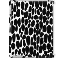 0043 Black Dots with Complementary Color iPad Case/Skin