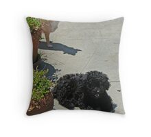 Daisy and Sophie Throw Pillow