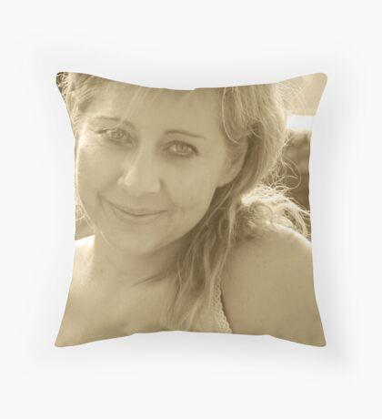 The Golden Hour Throw Pillow