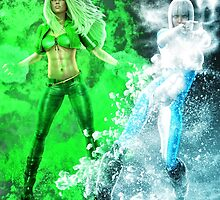 Fire and Ice DC Comics  by GreenDraco313