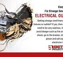 Easy Way to Fix Strange Smell from Electrical Outlet by betterelec