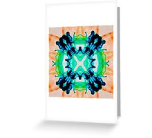 Ink Blot Orange Greeting Card