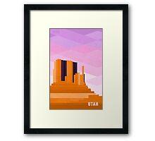 UTAH Framed Print