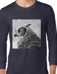 Dexter, A Great Horned Owl Long Sleeve T-Shirt