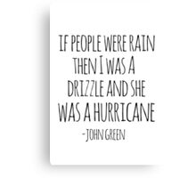 If People Were Rain Canvas Print