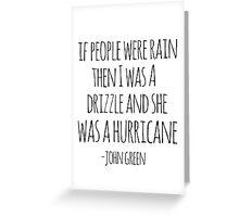 If People Were Rain Greeting Card