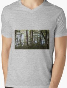 Water through the trees  Mens V-Neck T-Shirt