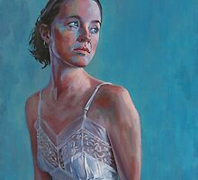 Bianca On Blue by Andy Beck