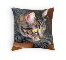 Alert and Ready for Action Throw Pillow