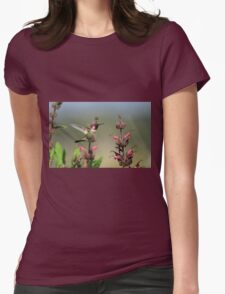Ruby Throated Hummer Frozen With Style Womens Fitted T-Shirt
