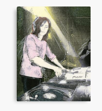 Lady DJ Canvas Print