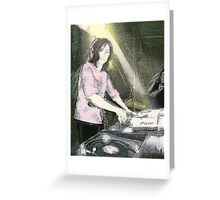 Lady DJ Greeting Card
