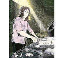 Lady DJ Photographic Print