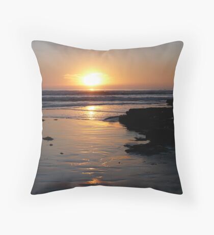 """Surf at Sunset"" Throw Pillow"