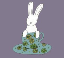 Bunny in a teacup Kids Tee