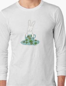 Bunny in a teacup Long Sleeve T-Shirt