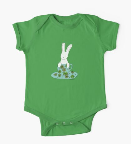 Bunny in a teacup One Piece - Short Sleeve