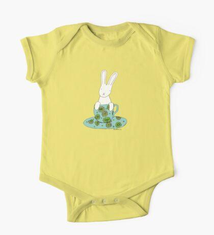 Bunny in a teacup One Piece - Short Sleeve