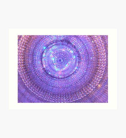 The Eye of Purple Art Print