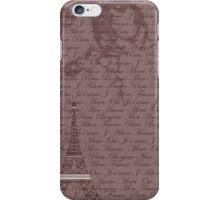 Paris, France-Typography iPhone Case/Skin