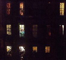 Rear Window, Greenwich Village, NYC by RonnieGinnever
