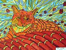 264 - CATNIP DREAMS - DAVE EDWARDS - INDIAN INK & WATERCOLOUR - 2009 by BLYTHART