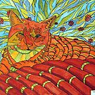 264 - CATNIP DREAMS - DAVE EDWARDS - INDIAN INK &amp; WATERCOLOUR - 2009 by BLYTHART