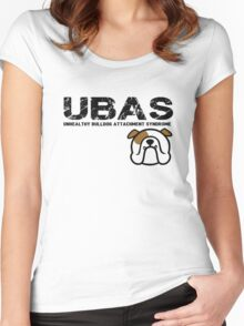 { bulldog love - UBAS = unhealthy bulldog attachment syndrome } Women's Fitted Scoop T-Shirt