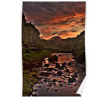 Sunset Over River Avon Poster