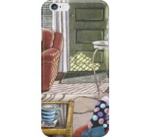 Sunlit interior with coffee and feet iPhone Case/Skin