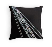 Eclectic Crane Throw Pillow