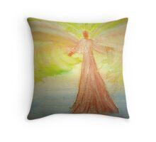 Angel Stirring Healing Waters Throw Pillow