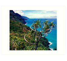 Na Pali Coast Trail  Art Print