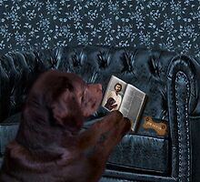 ASK THE ANIMALS AND THEY WILL TEACH U...CANINE READING BIBLE..WITH SCRIPTURE BISCUIT PICTURE,CARD,PILLOW,TOTE BAG ECT..HOW PRECIOUS.. by ✿✿ Bonita ✿✿ ђєℓℓσ