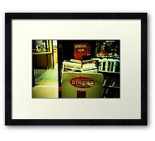 Strand Bookstore Framed Print