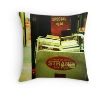 Strand Bookstore Throw Pillow