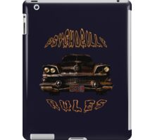 Psychobilly Rules Hot Rod iPad Case/Skin