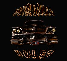 Psychobilly Rat Rod Sticker by ZeroAlphaActual