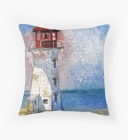 Peggy's Cove Lighthouse, Nova Scotia Throw Pillow