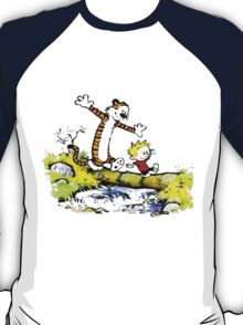 Calvin And Hobbes Funny Excited T-Shirt