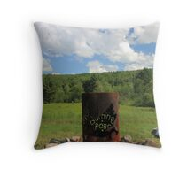 Burning Porcupine Fire and Sky Throw Pillow