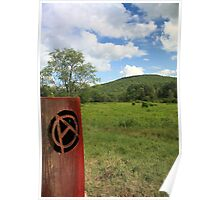 anarchy symbol and sky Poster