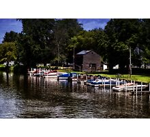 Boats and Barn Photographic Print