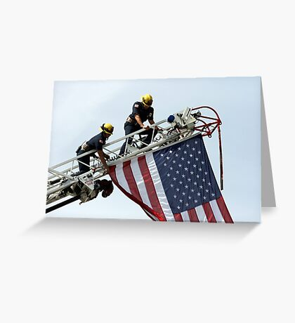 Let The USA Flag Fly Greeting Card