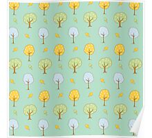 Cute Forest Trees Poster