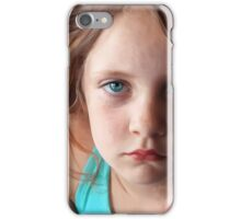 The day she was sick and didn't want to smile iPhone Case/Skin