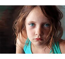 The day she was sick and didn't want to smile Photographic Print