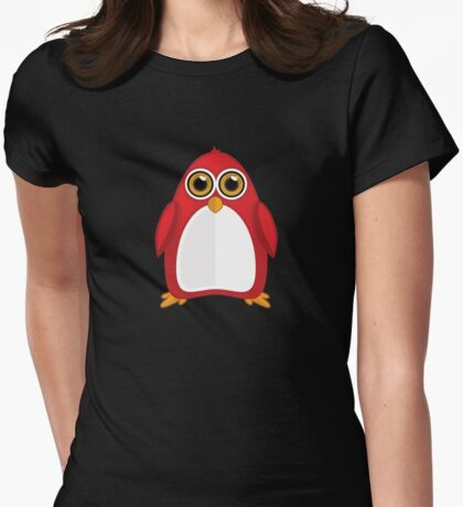 Red Penguin 2 Womens Fitted T-Shirt