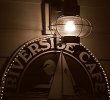 Riverside Cafe After Dark by artisandelimage