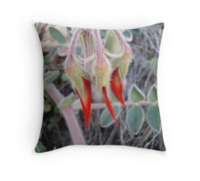 Sturt's Desert Pea - Opening Throw Pillow